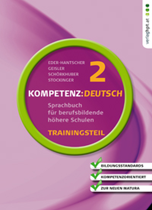 KOMPETENZ:DEUTSCH 2, Trainingsteil